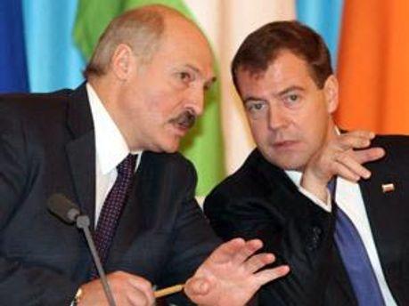 Олександр Лукашенко і Дмитро Медведєв