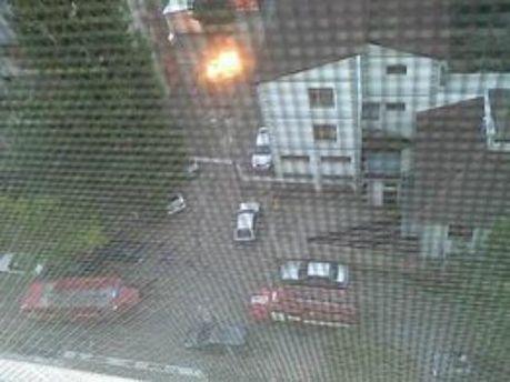 Взрыв в одесском дворе
