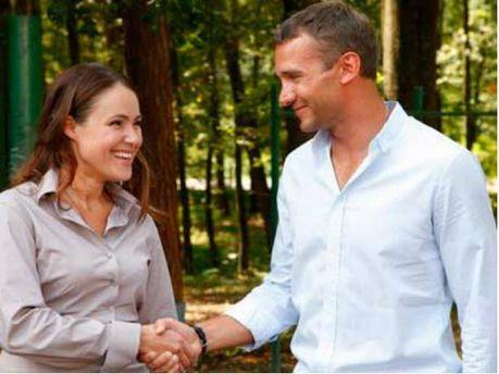 Наталія Королевська і Андрій Шевченко