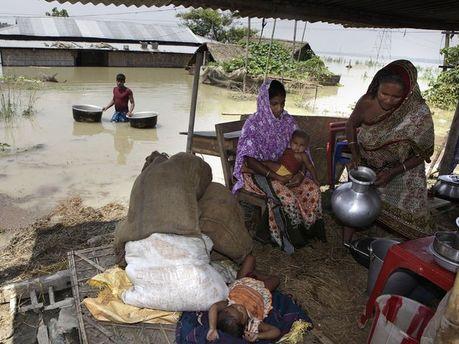 Последствия сильных дождей в Индии