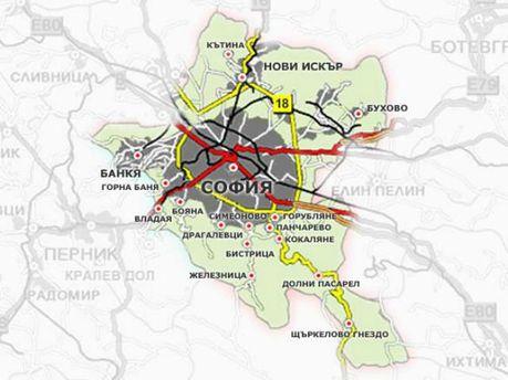 Карта Софії