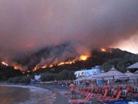 Пожар на острове Хиос