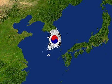 Південна Корея на карті