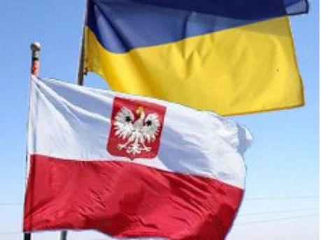 Флаг Украины и Польши