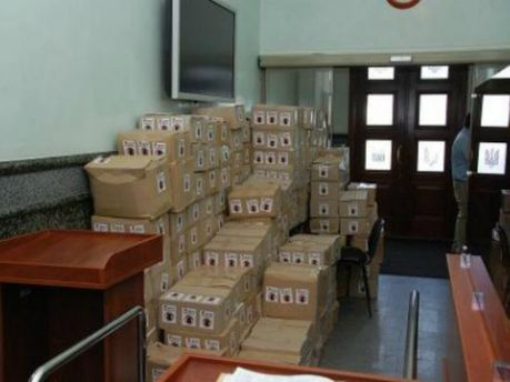 Коробки с заявлениями граждан