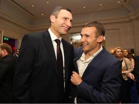 Віталій Кличко та Андрій Шевченко