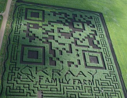 QR-код на поле