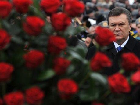 Цветы и Виктор Янукович