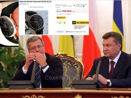 Бронислав Коморовский и Виктор Янукович