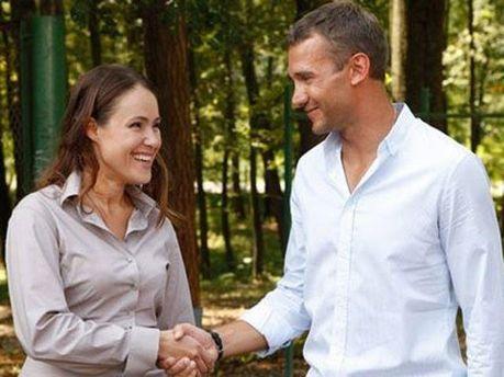 Наталья Королевская и Андрей Шевченко