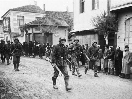 Немецкие солдаты в Греции