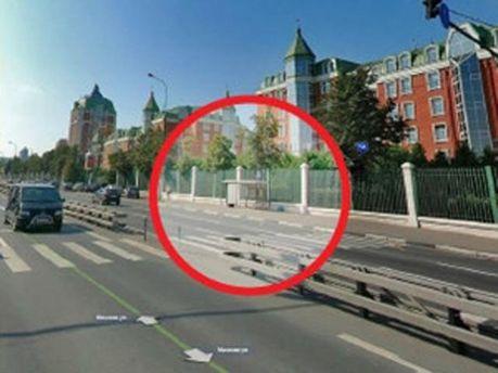 Место ДТП в Москве