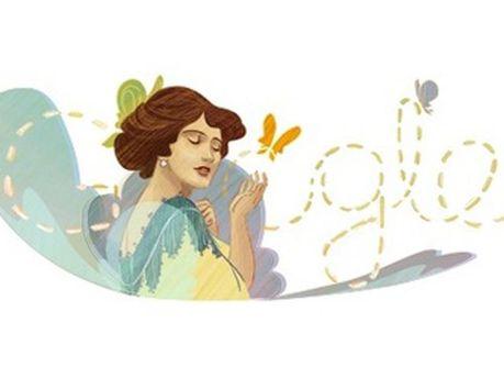 Логотип Google до дня народження Соломії Крушельницької