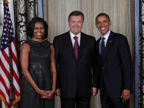 Виктор Янукович во время встречи с Бараком Обамой