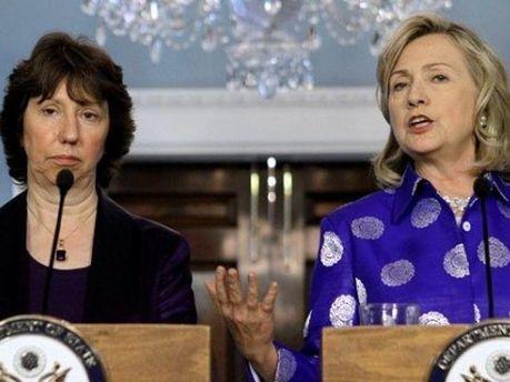 Хиллари Клинтон и Кэтрин Эштон