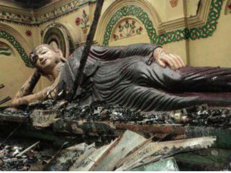 Разрушенный храм буддистов