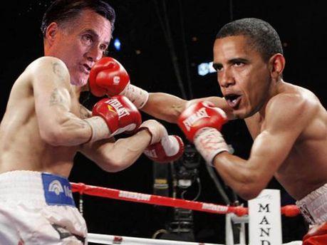 Фотоколлаж Обама и Ромни