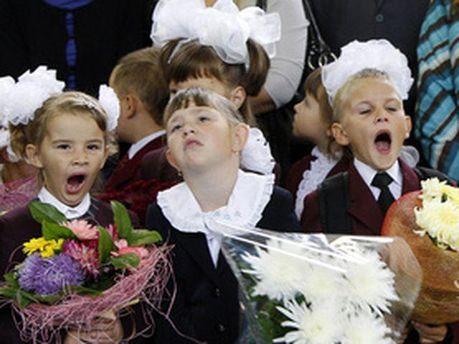 Дети на празднике первого звонка