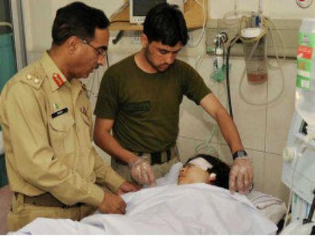 Малала Юсафзай в больнице