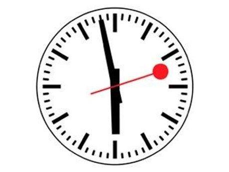 Часы швейцарской железной дороги