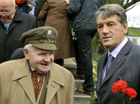 Віктор Ющенко та ветеран УПА