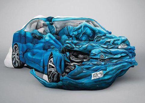 Авто из человеческих тел