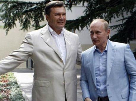 Віктор Янукович та Володимир Путін