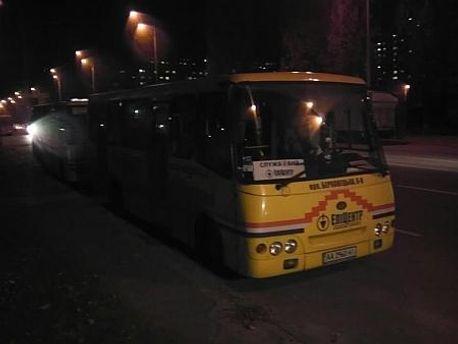 Автобусы возле ОВК