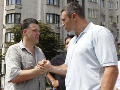 Виталий Кличко и Олег Тягнибок