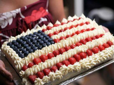 Торт в виде флага США