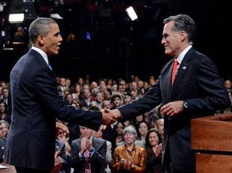 Мітт Ромні та Барак Обама