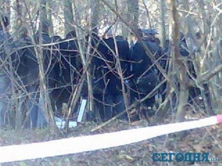 Фото с места убийства Мазурка