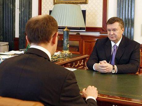 Арсеній Яценюк і Віктор Янукович