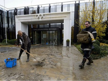Штаб-квартиру Міжнародного олімпійського комітету затопило (Фото)