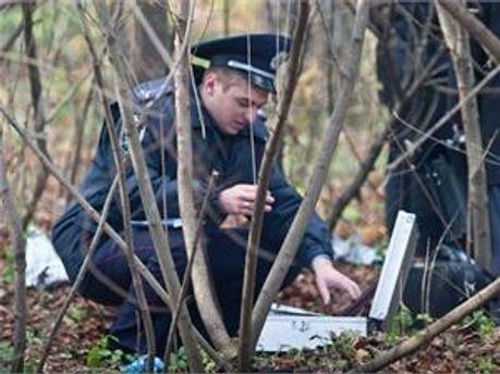 Міліція на місці, де знайшли тіло Мазурка