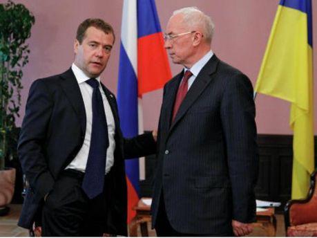 Николай Азаров и Дмитрий Медведев