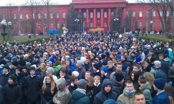 Мітинг у парку Тараса Шевченка