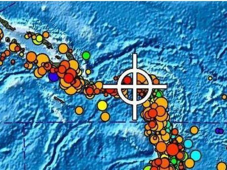 Место землетрясения на Соломоновых островах