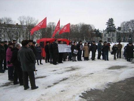 Акция протеста коммунистов в Хмельницком