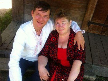 Олег Ляшко и его мать