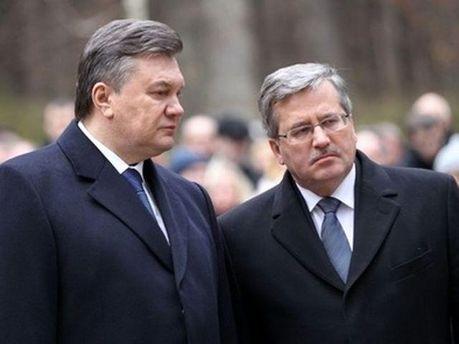 Віктор Янукович та Броніслав Коморовський