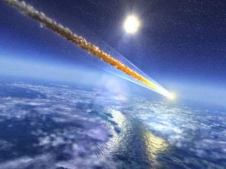 Падіння метеориту. Ілюстрація