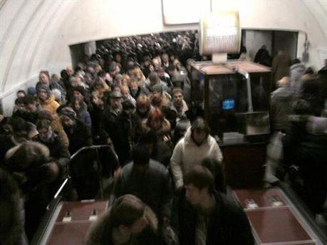 Тиснява у метро