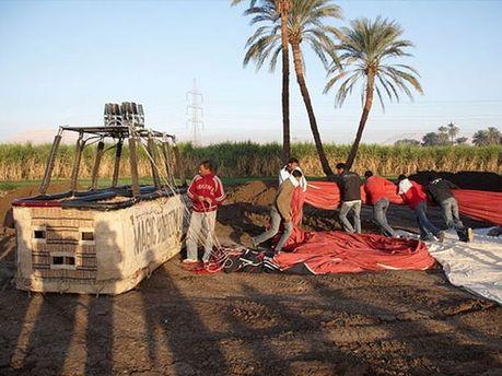 Воздушный шар, упавший в Египте