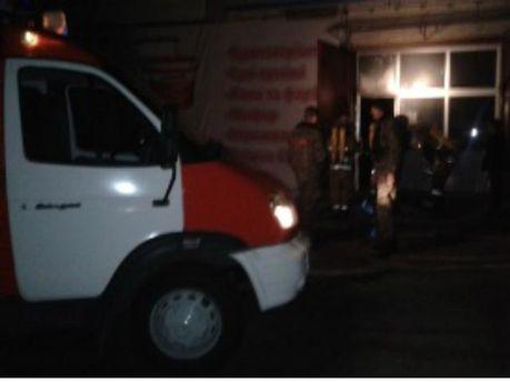 На Херсонщине горел магазин стройматериалов (Видео)