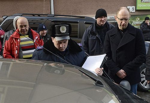 Инцидент с Яценюком и Москалем в Черновцах