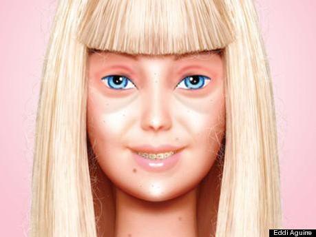 Так выглядит Барби без макияжа
