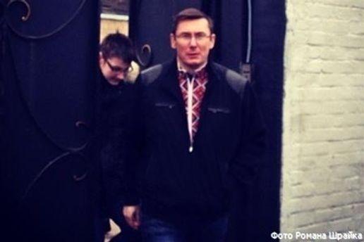 Первые минуты Луценко после освобождения