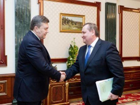 Янукович и Пристюк