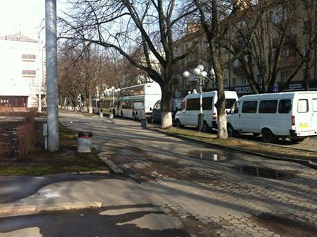 Автобусы на улицах Полтавы